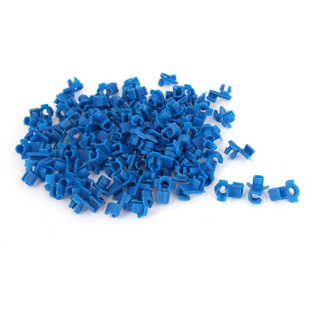 100 Pcs Blue Plastic Rivet Trim Fastener Moulding Clips for 4mm Hole