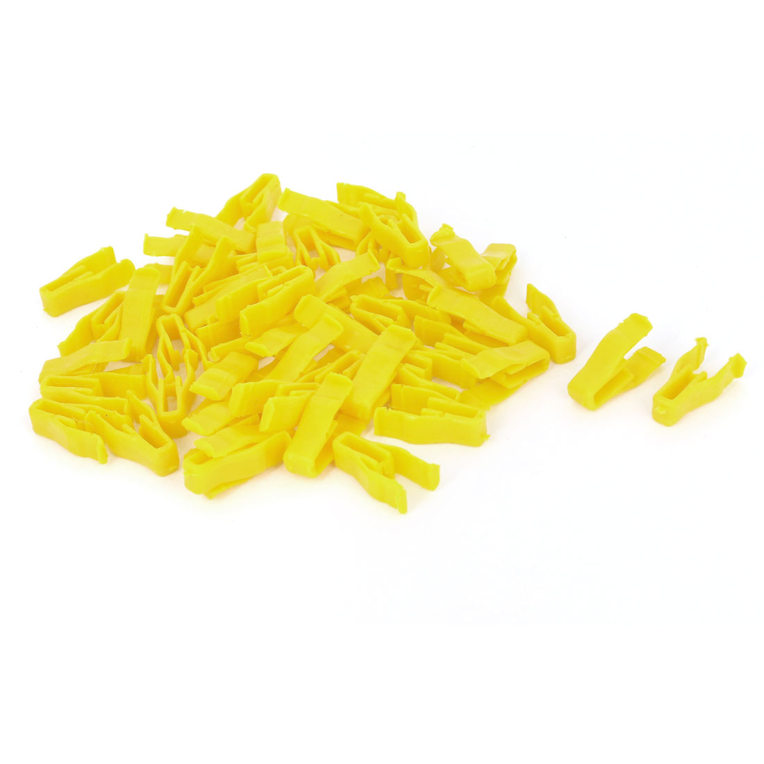 50 Pcs Yellow Plastic Rivet Trim Fastener Moulding Clips for 6mm Hole