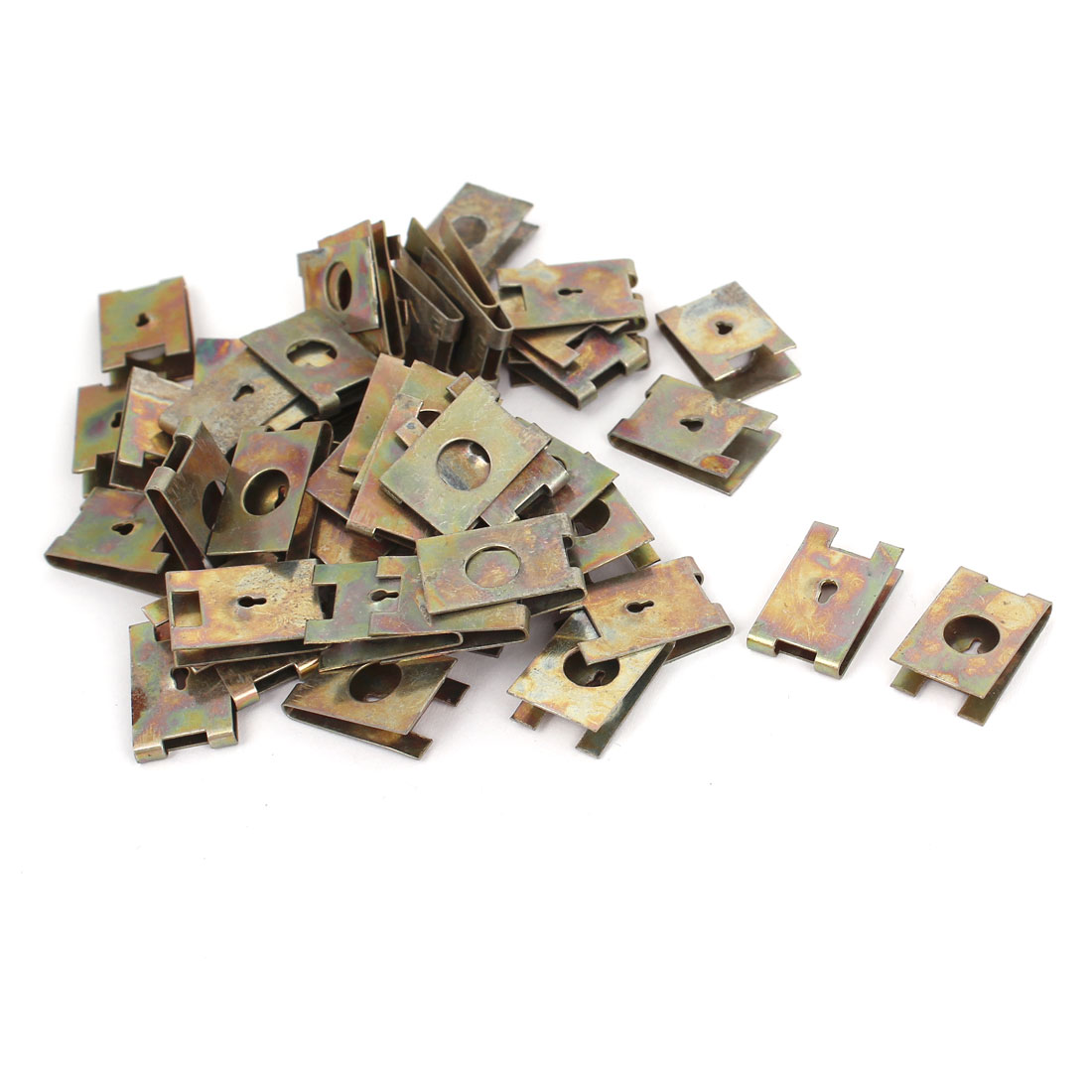 50 Pcs 2mm U Nut Extruded Fairing Snap Speed Clip Fastener Clamp