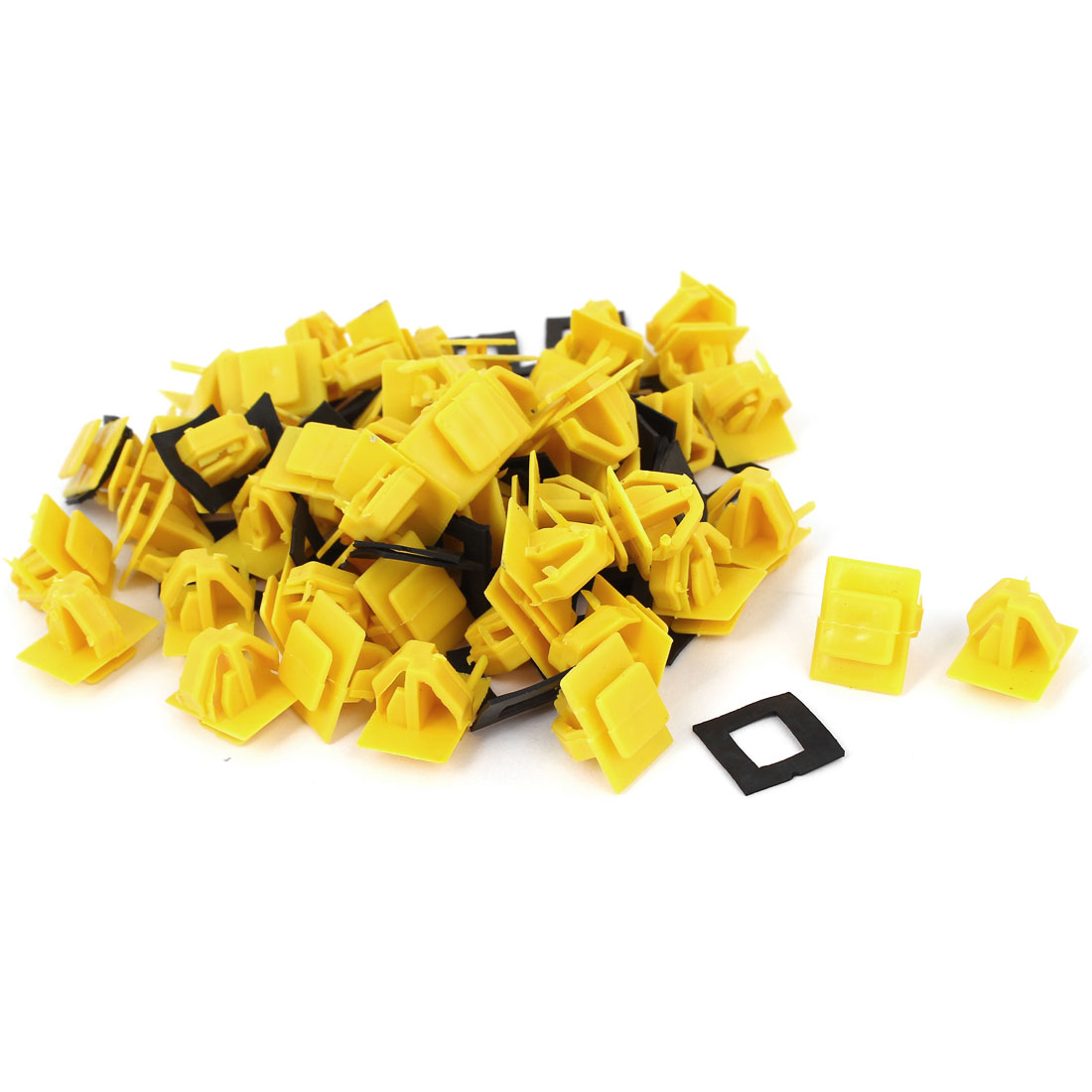 50 Pcs Orange Plastic Rivet Trim Fastener Moulding Clips 11mm x 15mm x 15mm