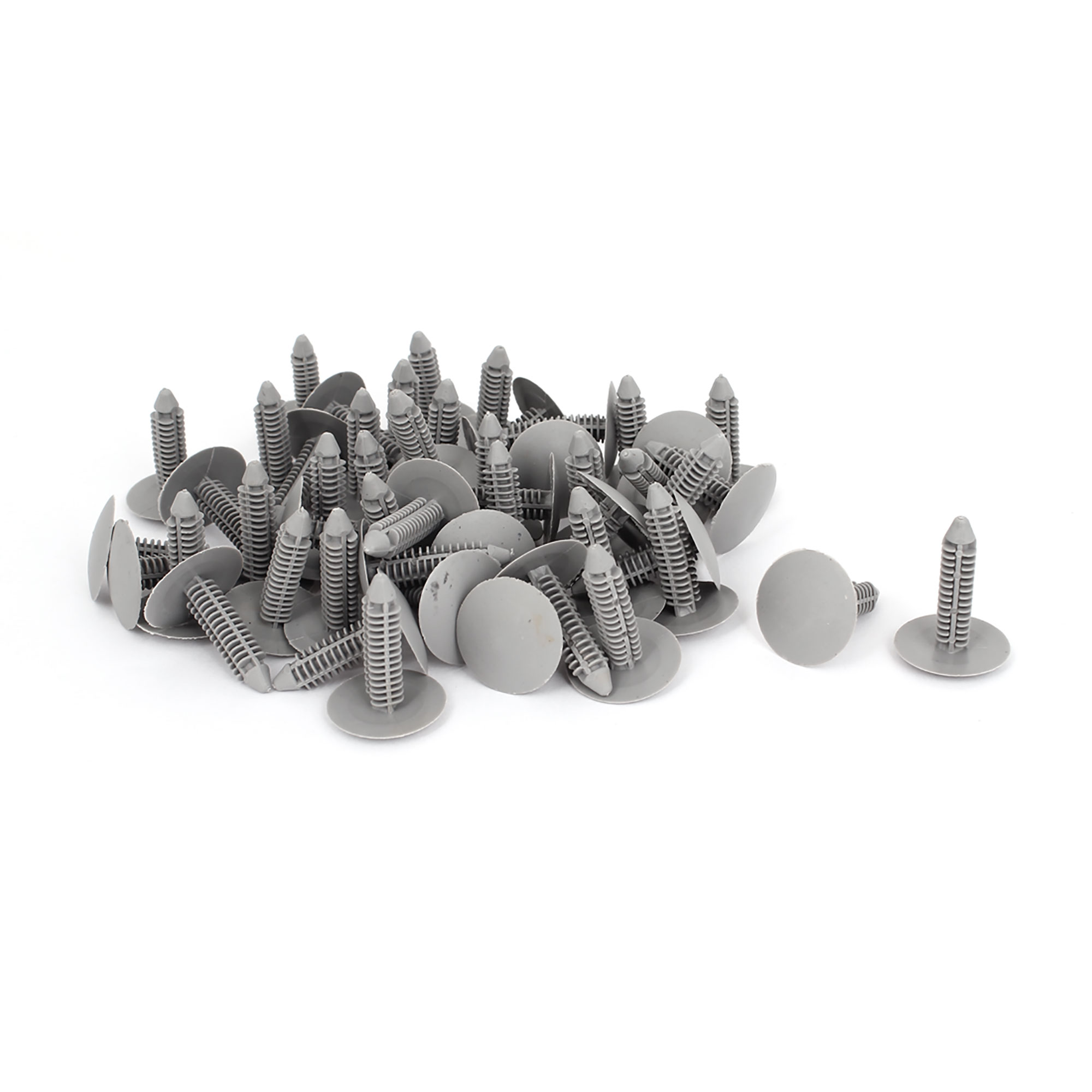 50 Pcs Gray Plastic Rivet Trim Fastener Moulding Clips 8mm x 25mm x 31mm