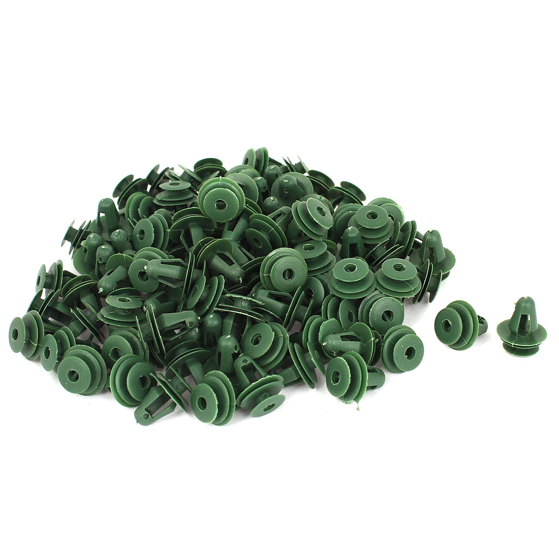 50 Pcs Green Plastic Rivet Trim Fastener Moulding Clips 9mm x 14mm x 17mm