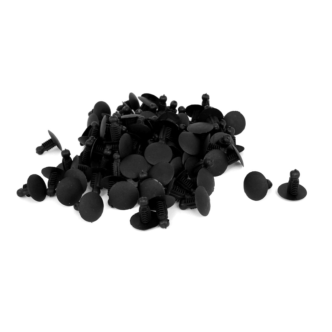 50 Pcs Black Plastic Rivet Trim Fastener Moulding Clips 8mm x 17mm x 18mm