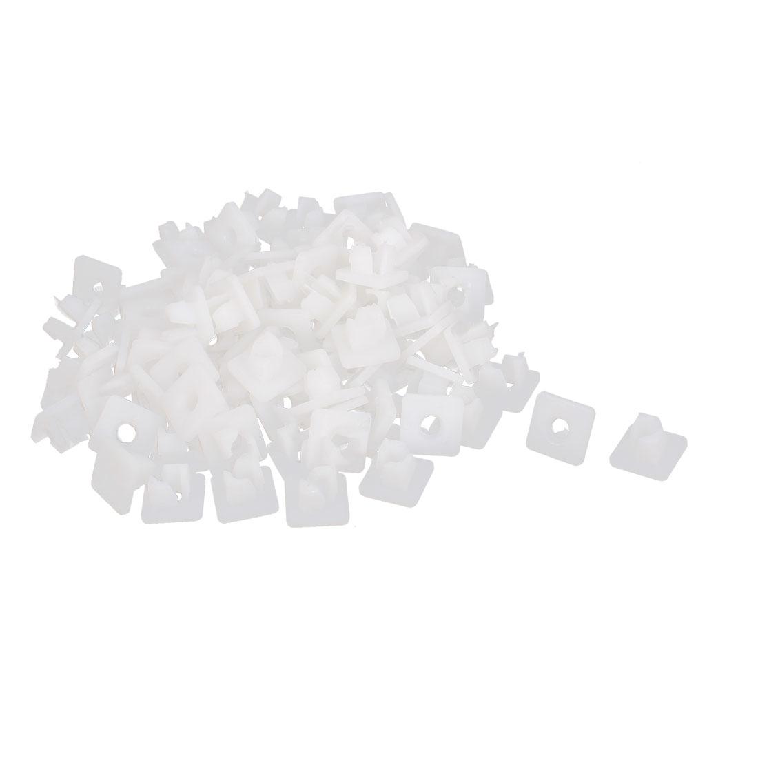 100 Pcs White Plastic Rivet Trim Fastener Moulding Clips 5mm x 8mm x 15mm