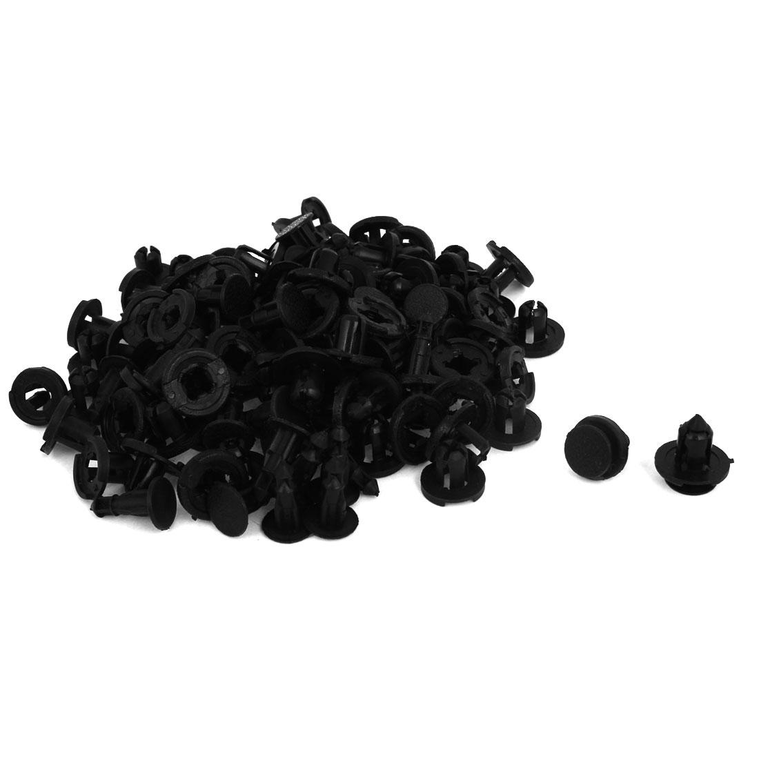 100 Pcs Black Plastic Rivet Trim Fastener Moulding Clips 8mm x 13mm x 18mm