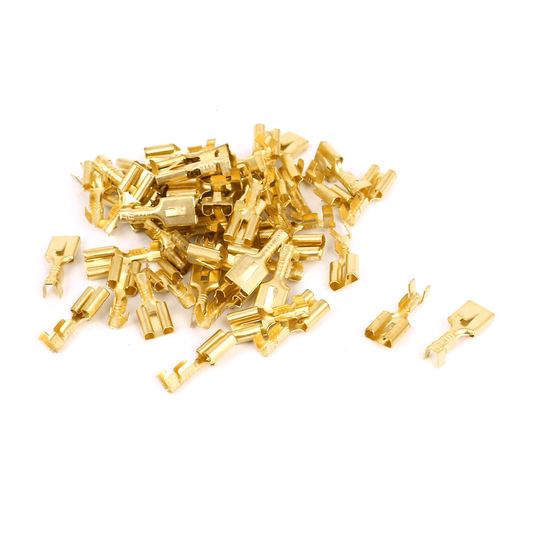 50 Pcs 4mm Insert Spring Solder Cold Pressed Terminal Connector