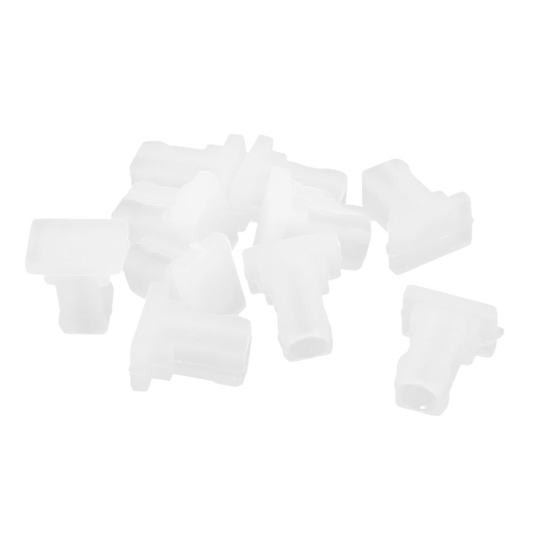 10Pcs Silicone Optical Fiber Router EPON SC Port Anti-Dust Stopper Clear