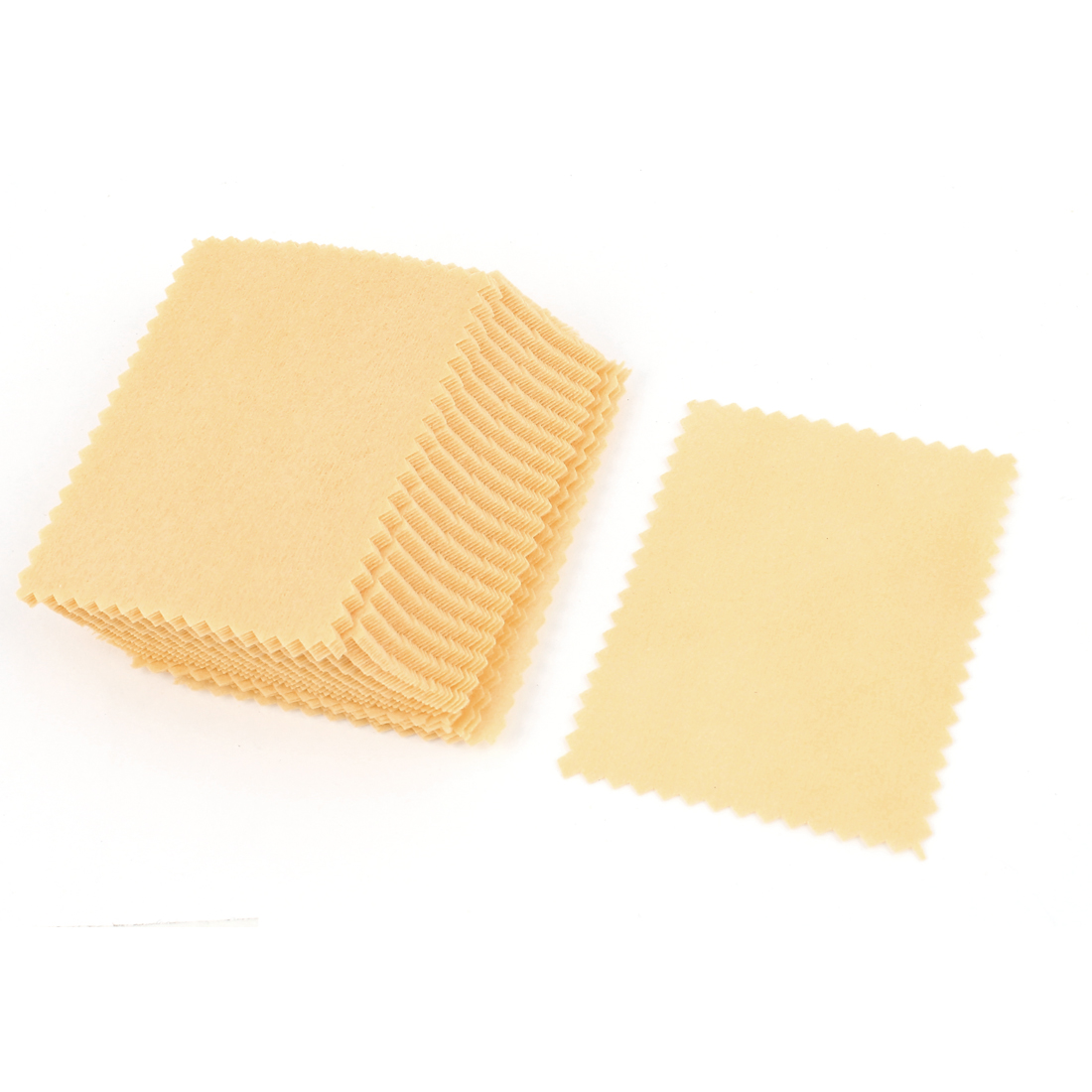 50PCS 6cm x 8cm Rectangle Scalloped Edge Cleaning Cloth for Screen Covering