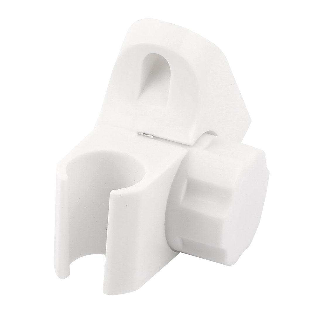 Bathroom Wall Mounted Adjustable Hose Shower Spray Head Bracket Holder White