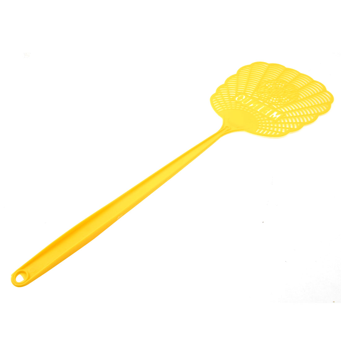 Yellow Plastic Hollow Out Flower Mosquito Bug Cockroach Fly Swatter Catcher