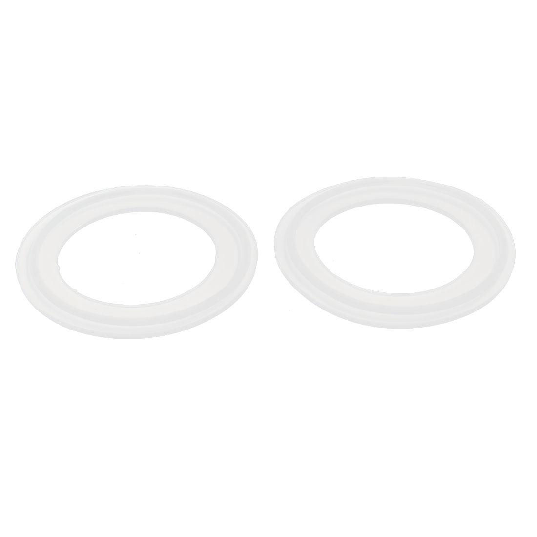 "45mm Silicone Gasket 2pcs for 2"" Tri Clamp Sanitary Pipe Fittings Ferrules"