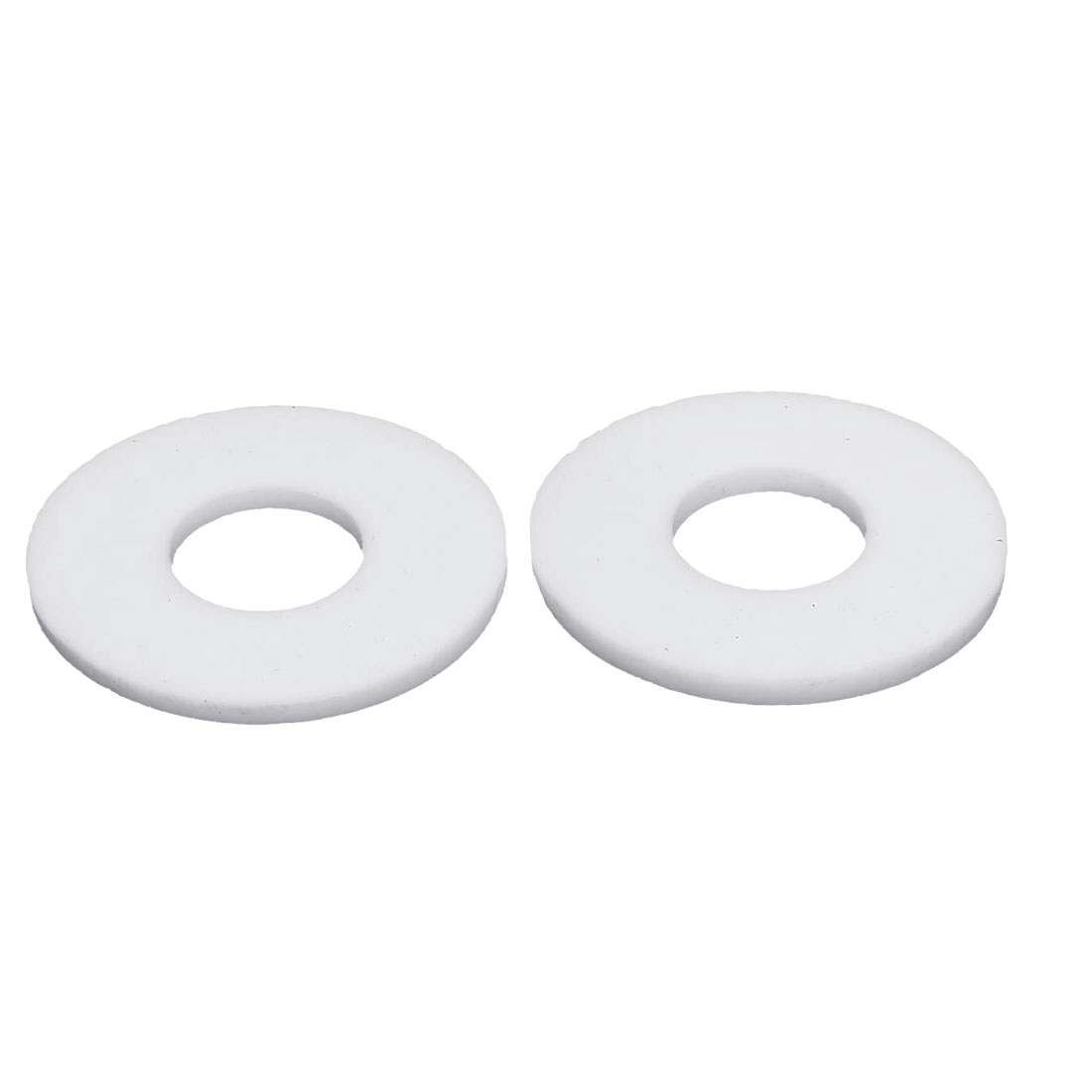 DN15 18x45x3mm PTFE Flange Gasket Sanitary Pipe Fitting Ferrules White 2pcs