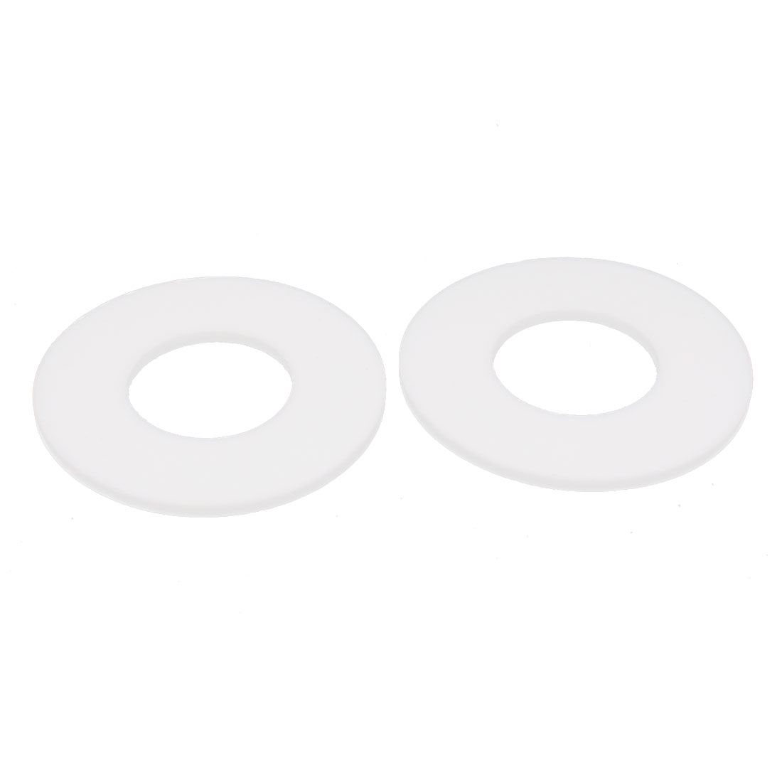 DN25 32x68x3mm PTFE Flange Gasket Sanitary Pipe Fitting Ferrules White 2pcs