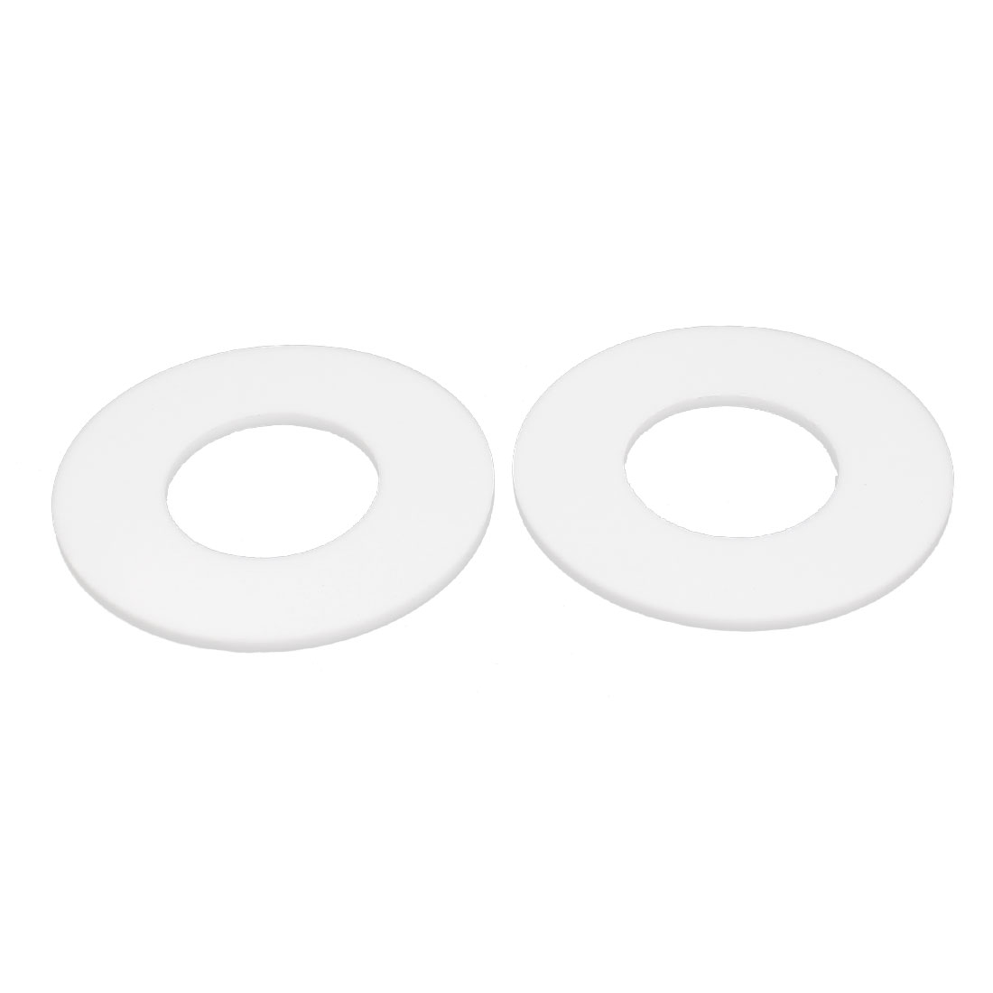 DN32 38x78x3mm PTFE Flange Gasket Sanitary Pipe Fitting Ferrules White 2pcs