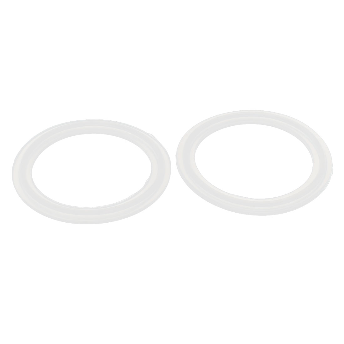"51mm Silicone Gasket 2pcs for 2"" Tri Clamp Sanitary Pipe Fittings Ferrules"
