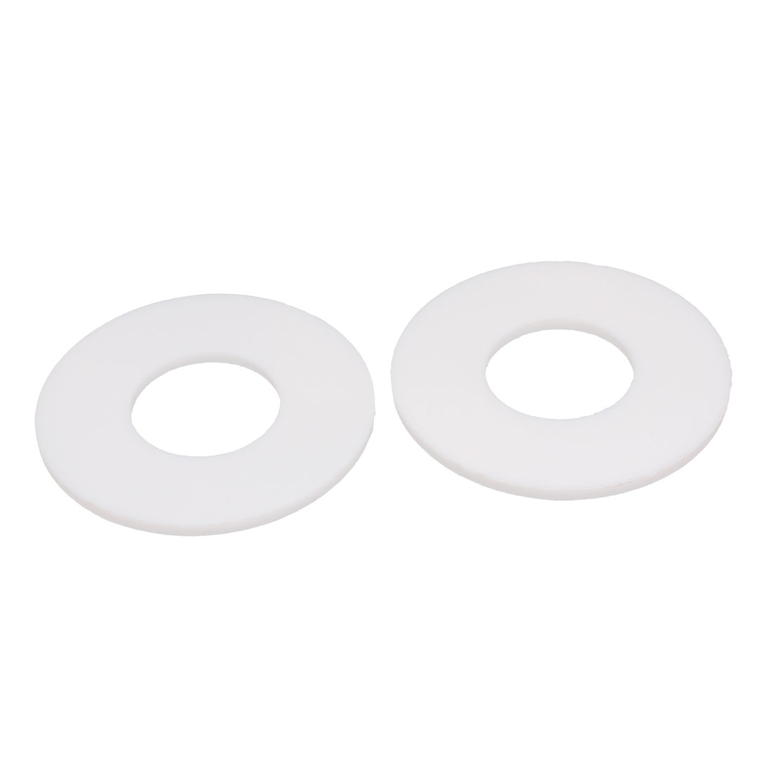 DN20 25x58x3mm PTFE Flange Gasket Sanitary Pipe Fitting Ferrules White 2pcs