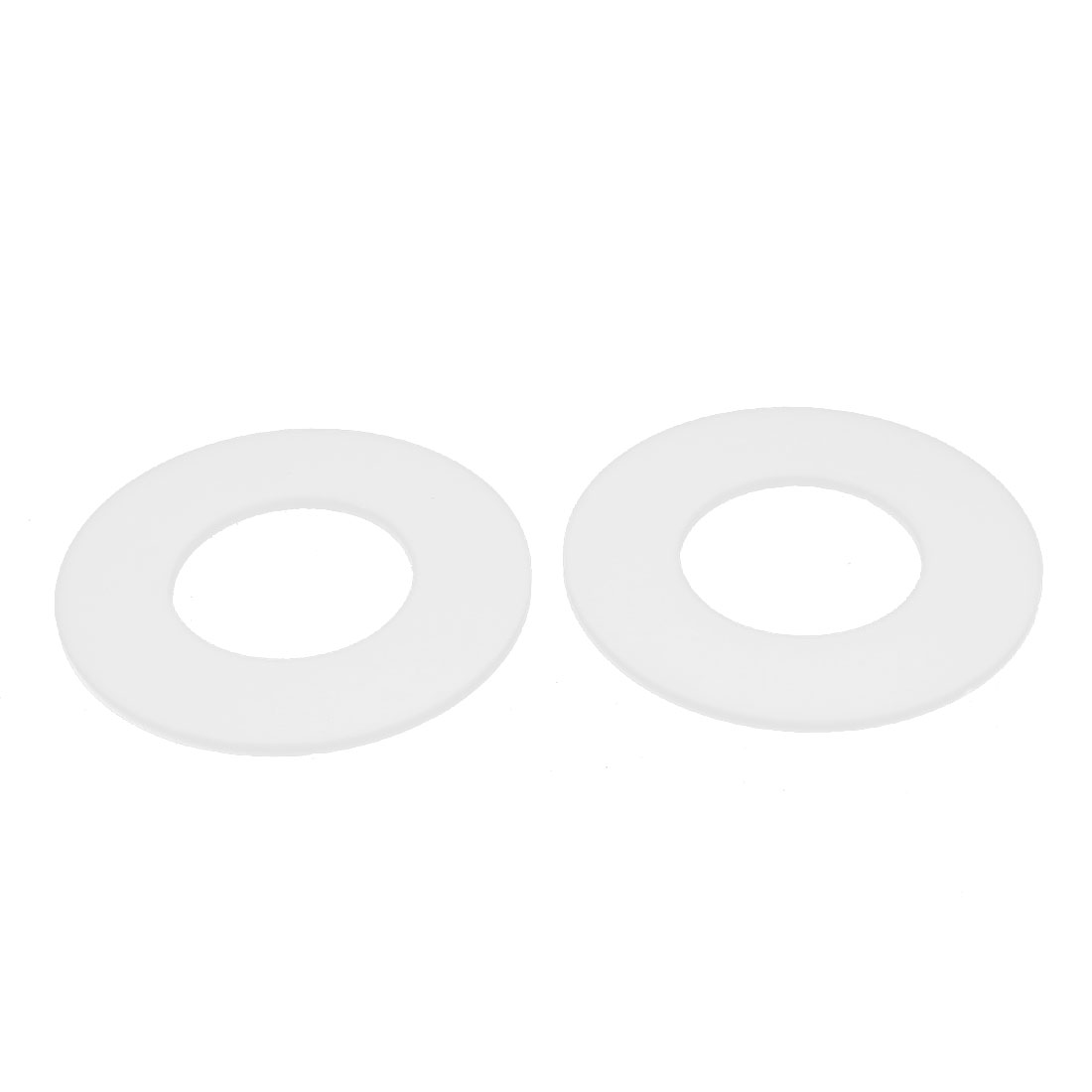 DN40 45x88x3mm PTFE Flange Gasket Sanitary Pipe Fitting Ferrules White 2pcs