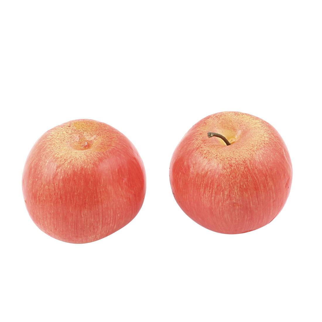 2 Pcs Artificial Fake Plastic Red Apple Kitchen Table Wedding Party Fruit Decor