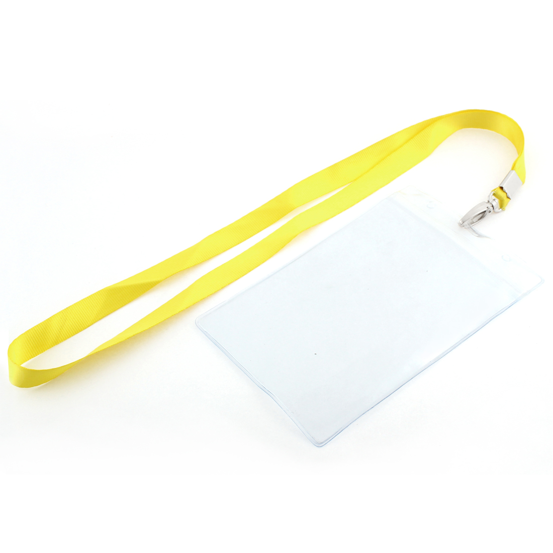 Plastic Vertical Style Yellow Neck Strap Name Photo Dept ID Card Holder