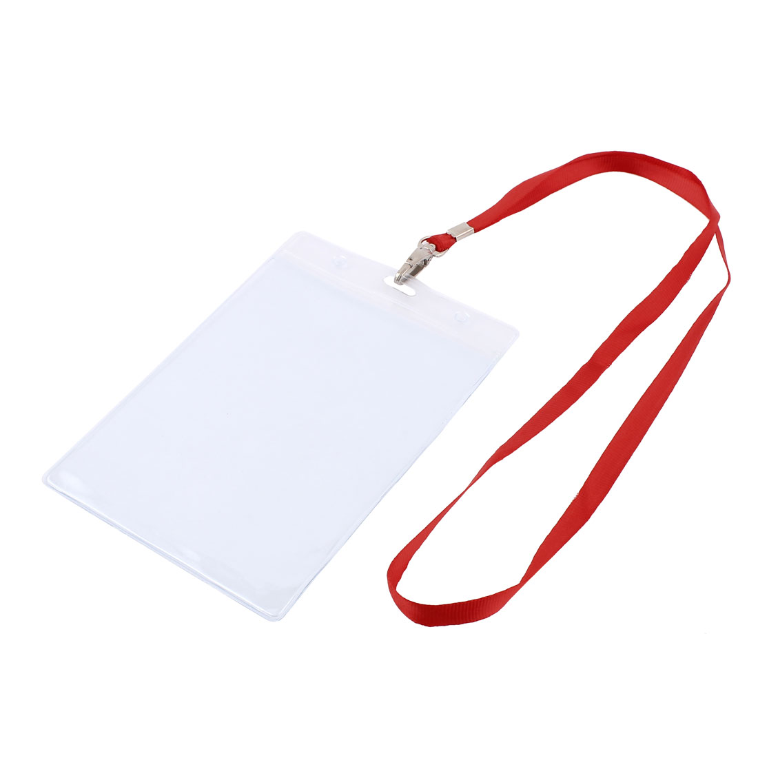 Plastic Vertical Lanyard Company Name School Exhibition Badge Card Holder Red