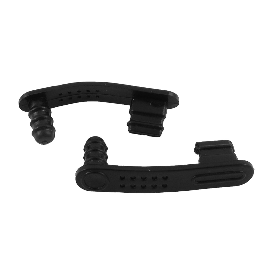Charger 3.5mm Earphone Anti Dust Stopper Cap 2Pcs Black for Cell Phone