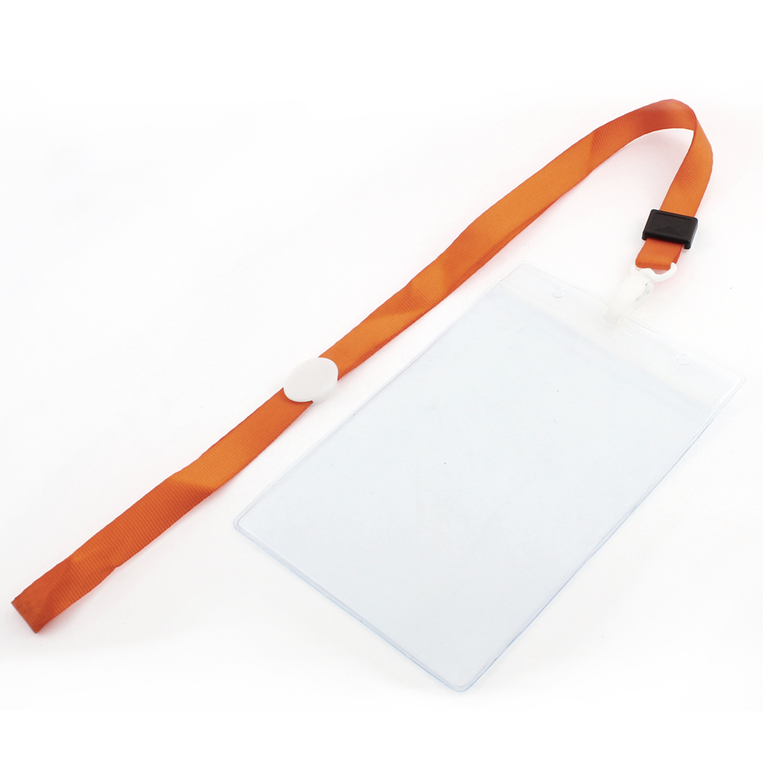 Plastic Vertical Style Orange Neck Strap Name Photo Position ID Card Holder