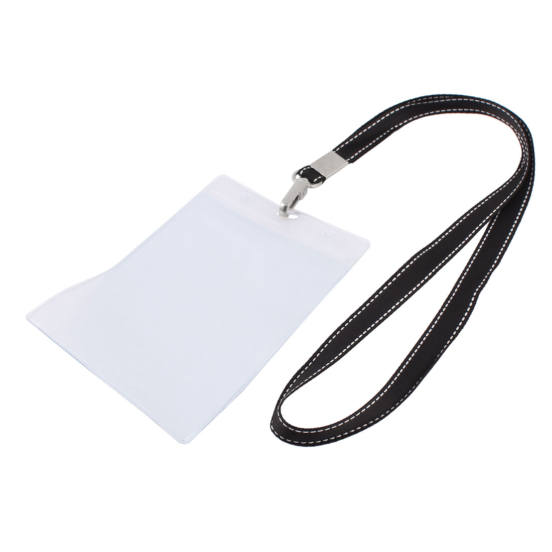 Plastic Vertical Lanyard Company Position Exhibition Badge Card Holder Black