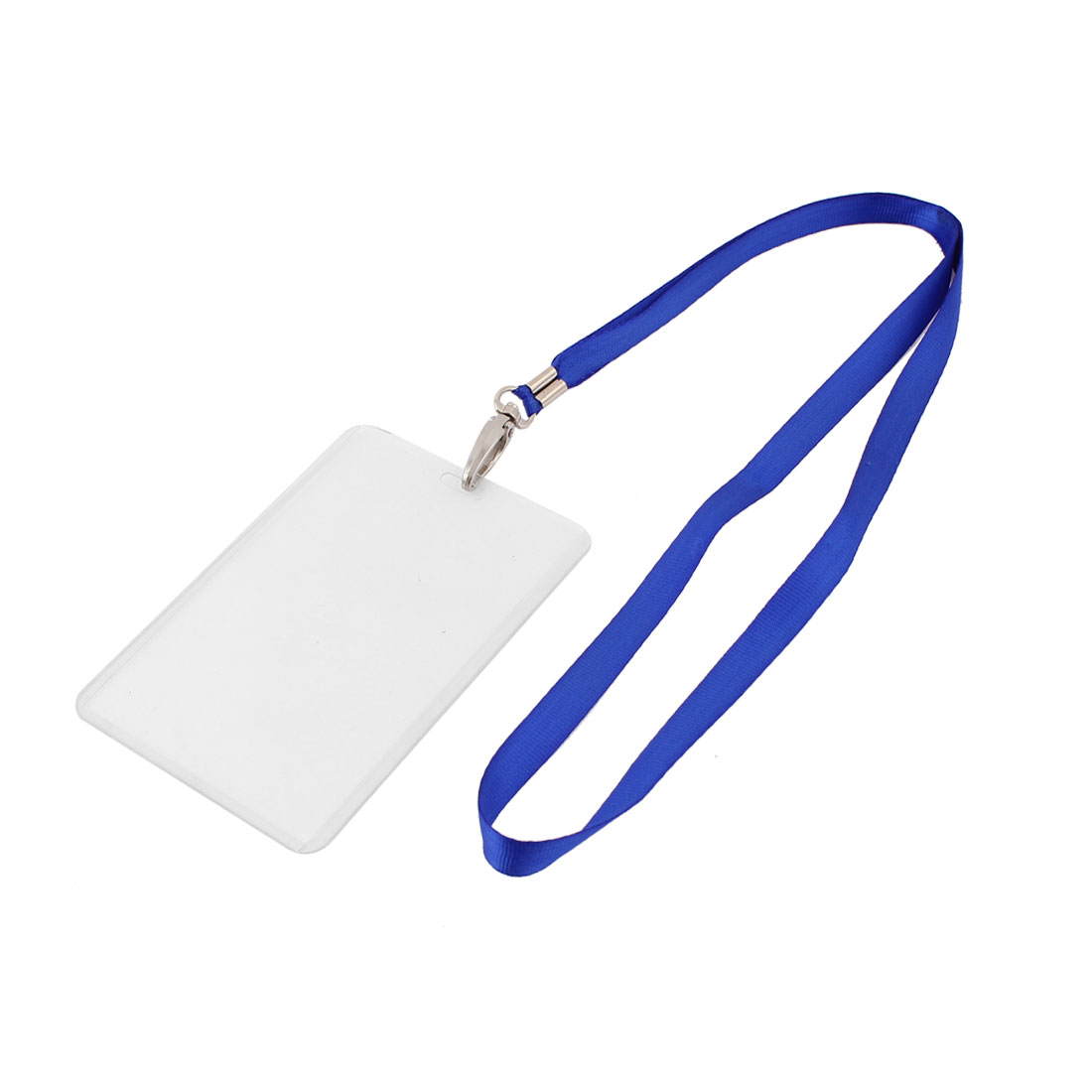 Plastic Vertical Style Blue Neck Strap Photo Company Position Badge Card Holder