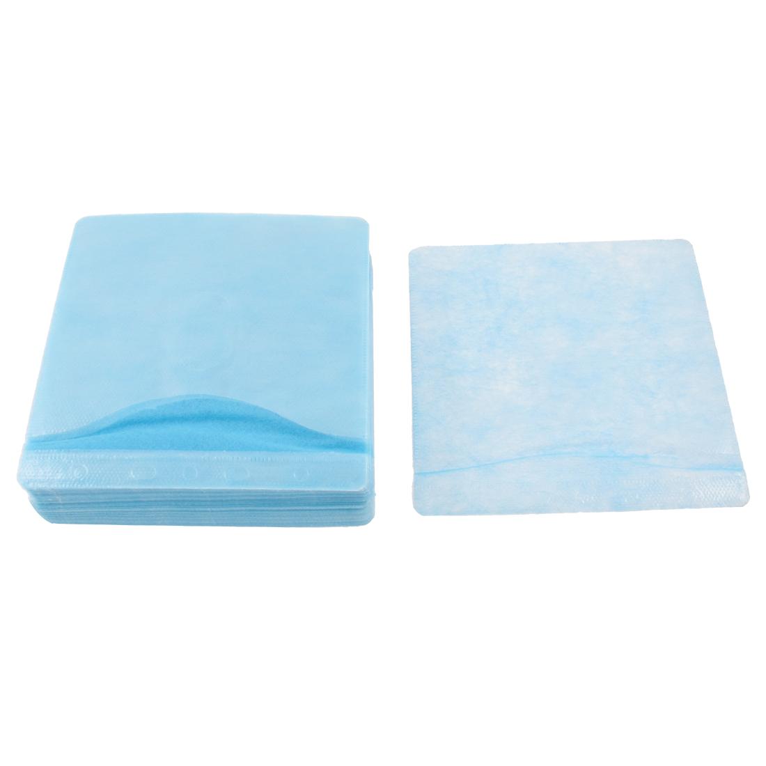100pcs Blue PP Dual Sides CD DVD Disc Sleeves Storage Holder Bag