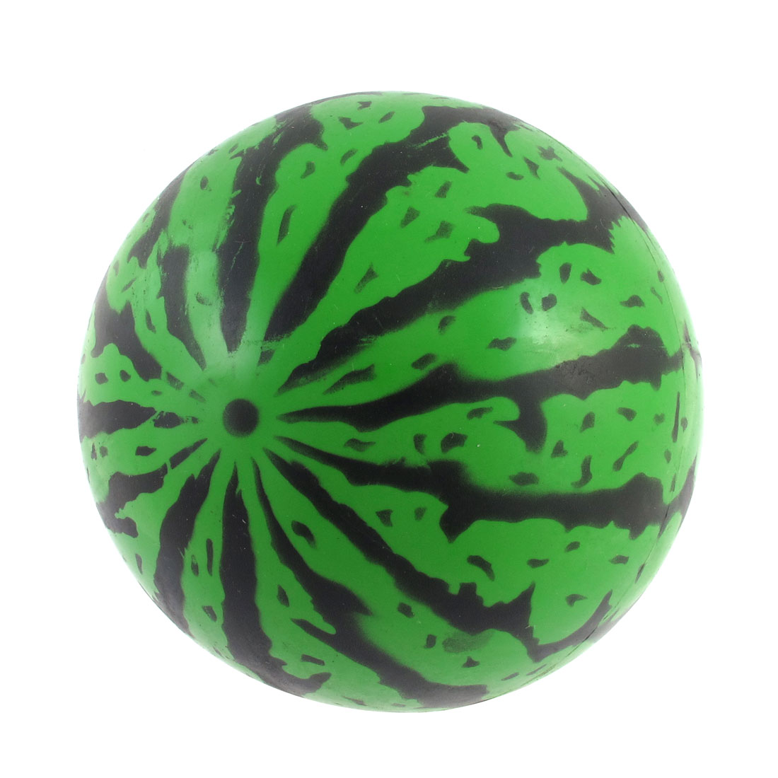 Green Black PVC 13.5cm Diameter Inflatable Watermelon Ball Playing Toy