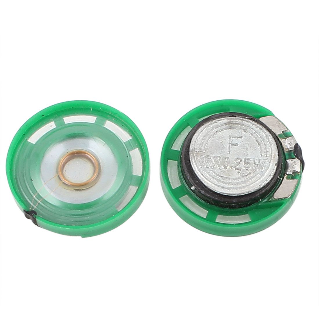 2 Pcs 0.25W 16 Ohm 23mm Round Outside Magnet Electronic Speaker Loudspeaker