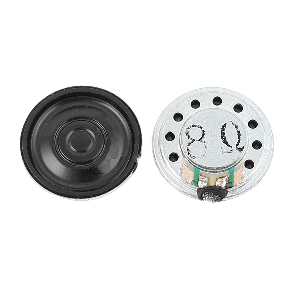 2 Pcs 1W 8 Ohm 23mm Round Inside Magnet Electronic Speaker Loudspeaker