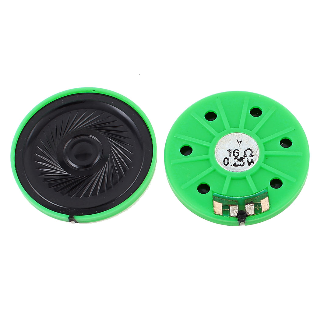 2 Pcs 0.25W 16 Ohm 40mm Round Inside Magnet Electronic Speaker Loudspeaker