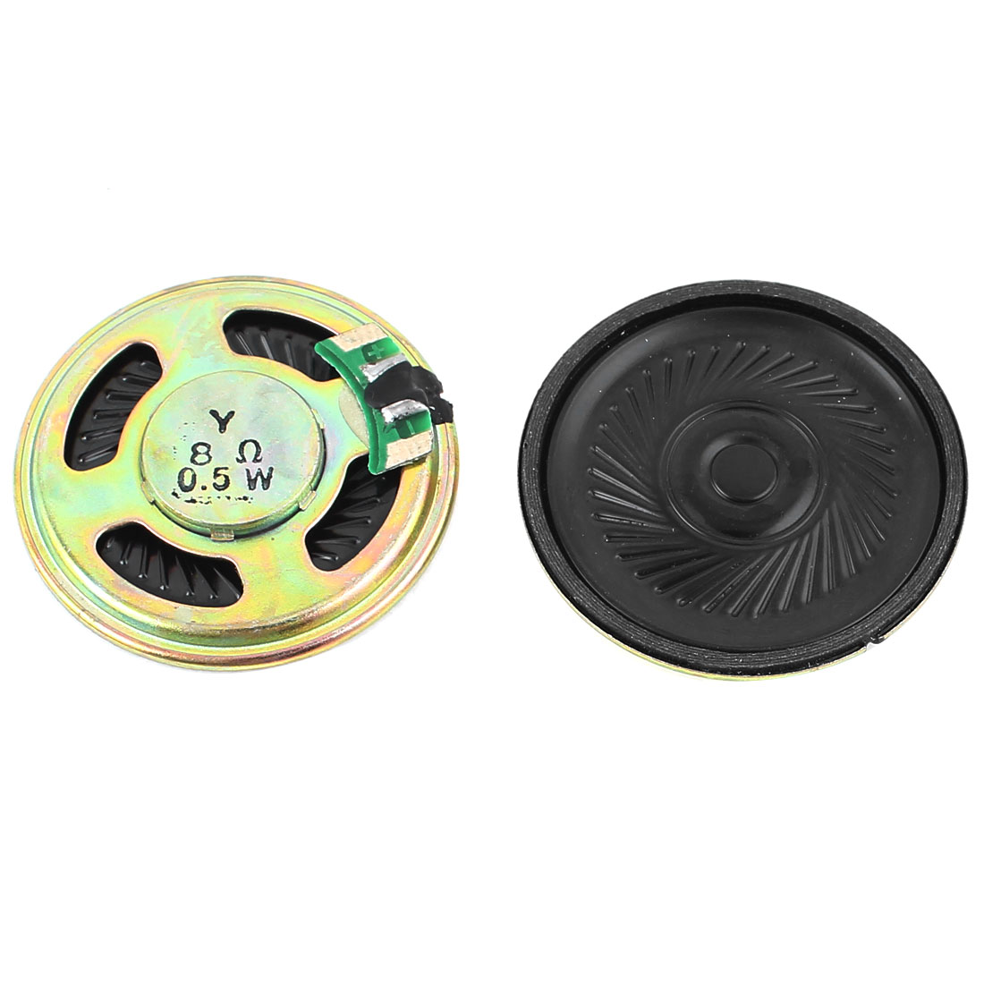 2 Pcs 0.5W 8 Ohm 40mm Round Inside Magnet Electronic Speaker Loudspeaker