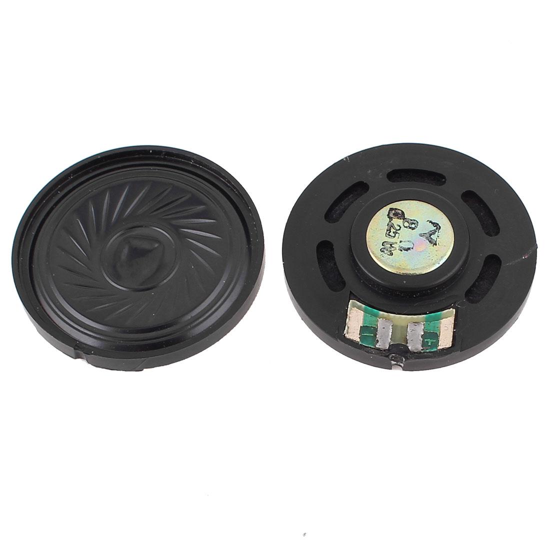 2 Pcs 0.25W 8 Ohm 36mm Round Inside Magnet Electronic Speaker Loudspeaker