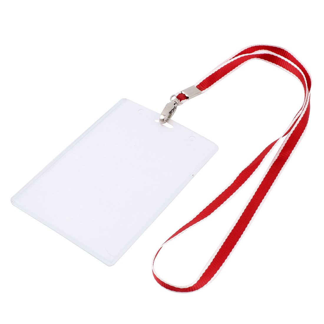 Plastic Vertical Design Lanyard Work Company Position Name Badge Card Holder Red
