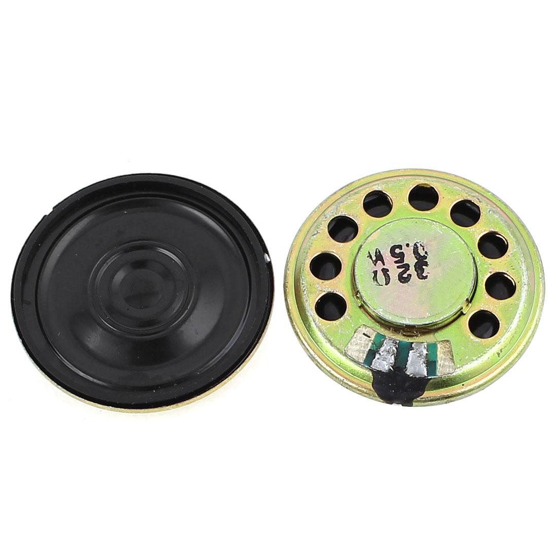 2 Pcs 0.5W 32 Ohm 29mm Round Inside Magnet Electronic Speaker Loudspeaker