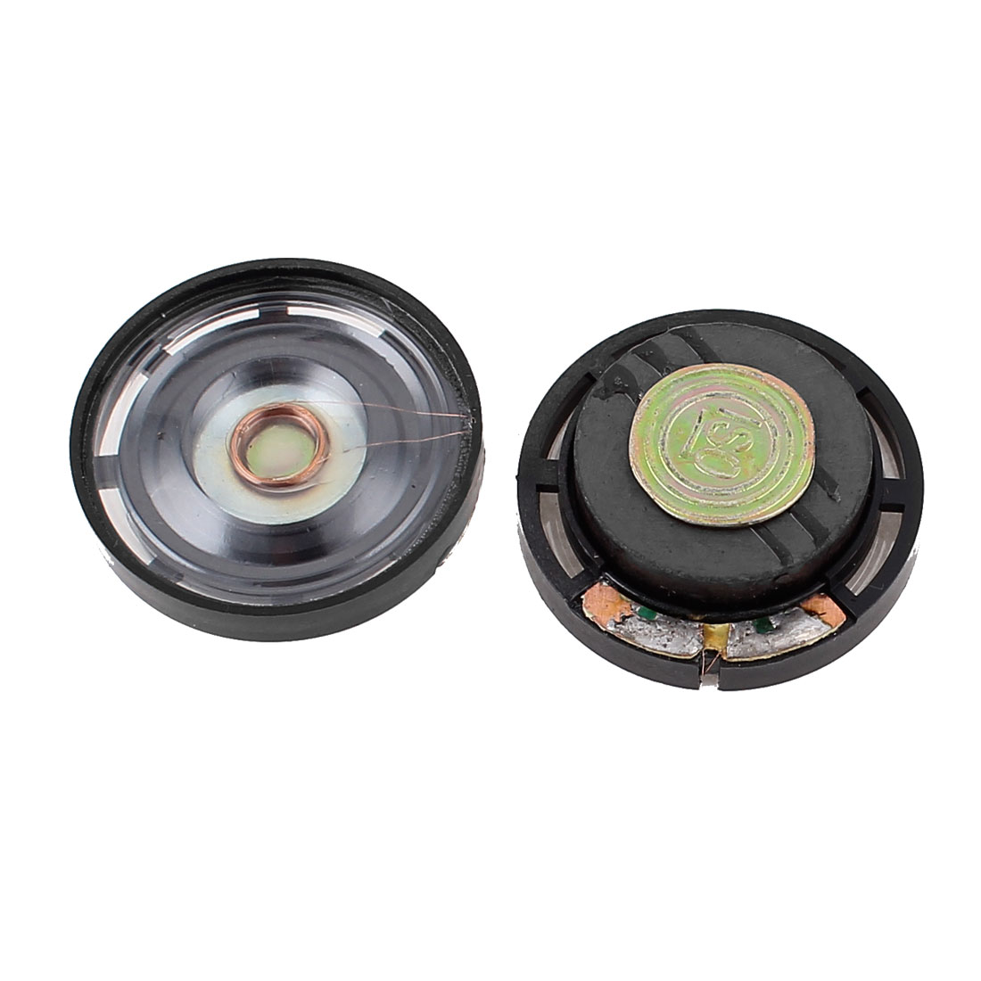 2 Pcs 1W 8 Ohm 29mm Round Outside Magnet Electronic Speaker Loudspeaker