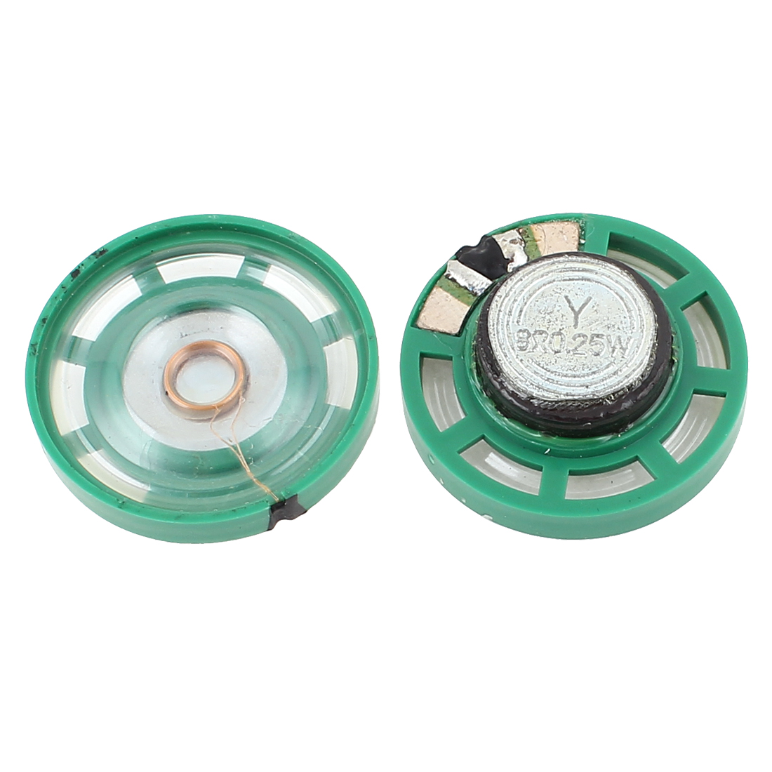 2 Pcs 0.25W 8 Ohm 29mm Outside Magnet Electronic Toy Loudspeaker