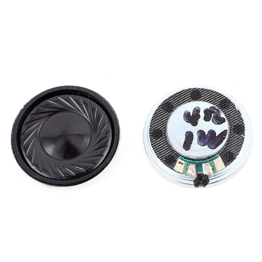 2 Pcs 1W 4 Ohm 28mm Round Inside Magnet Electronic Speaker Loudspeaker