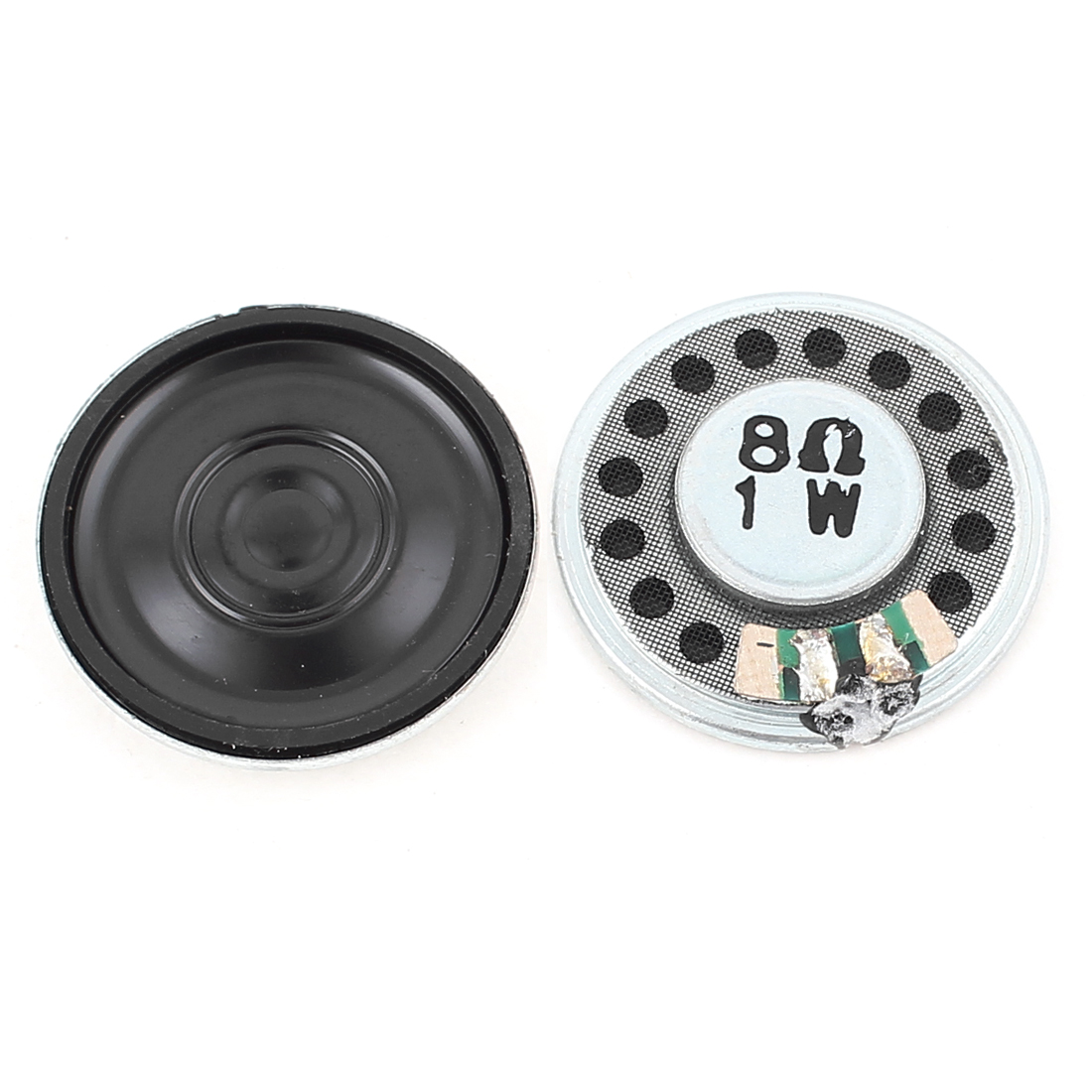 2 Pcs 1W 8 Ohm 27mm Round Inside Magnet Electronic Speaker Loudspeaker