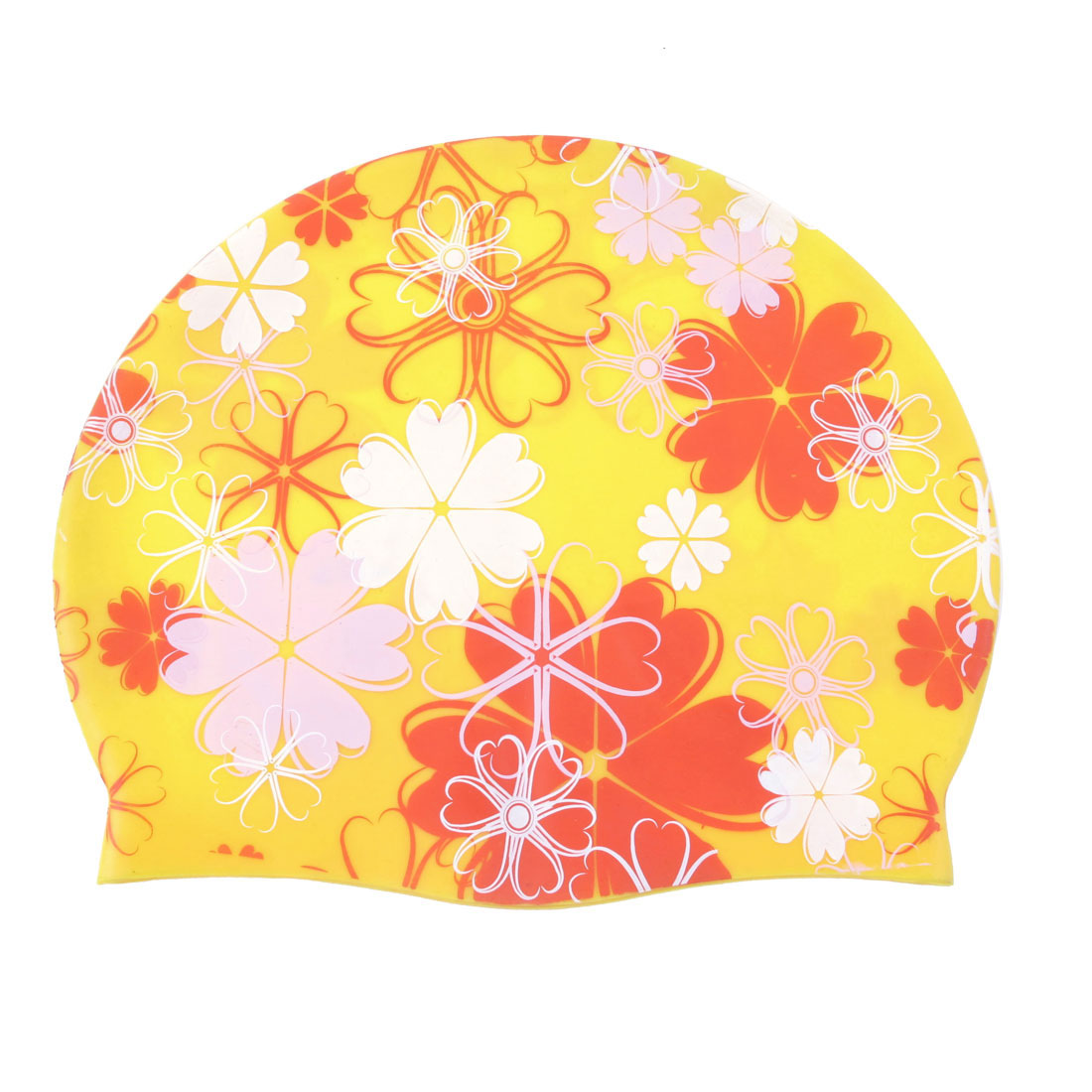 Yellow Silicone Flexible Swim Swimming Surfing Elastic Cap Hat for Men Women