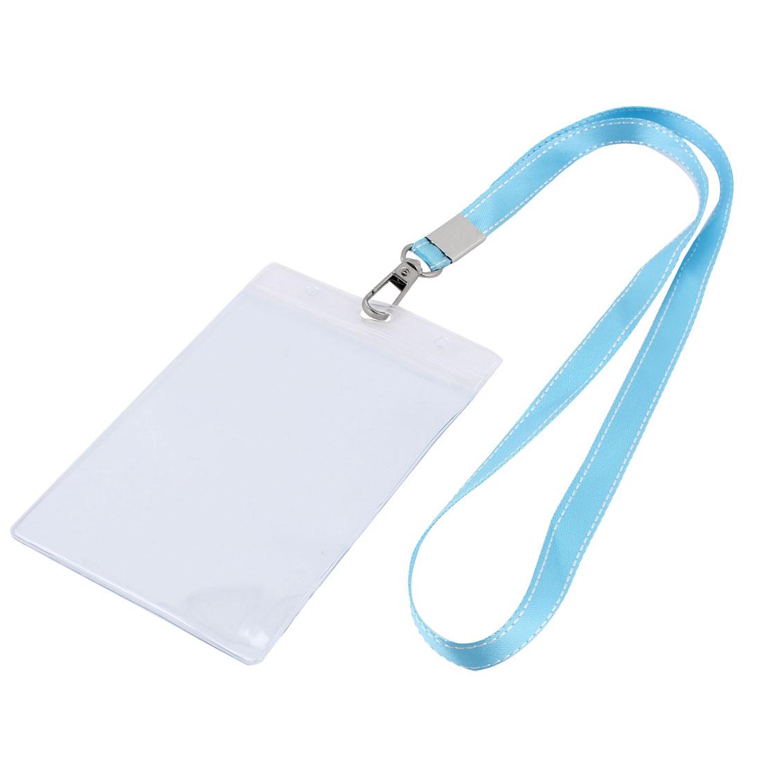 Plastic Vertical Design Teal Neck Strap Name Company Position Badge Card Holder