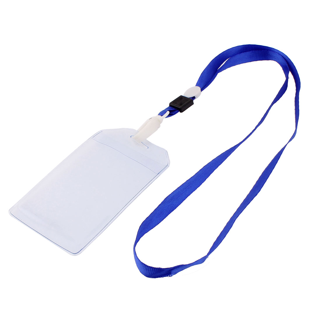 Plastic Vertical Style Blue Neck Strap Name Company Position Badge Card Holder