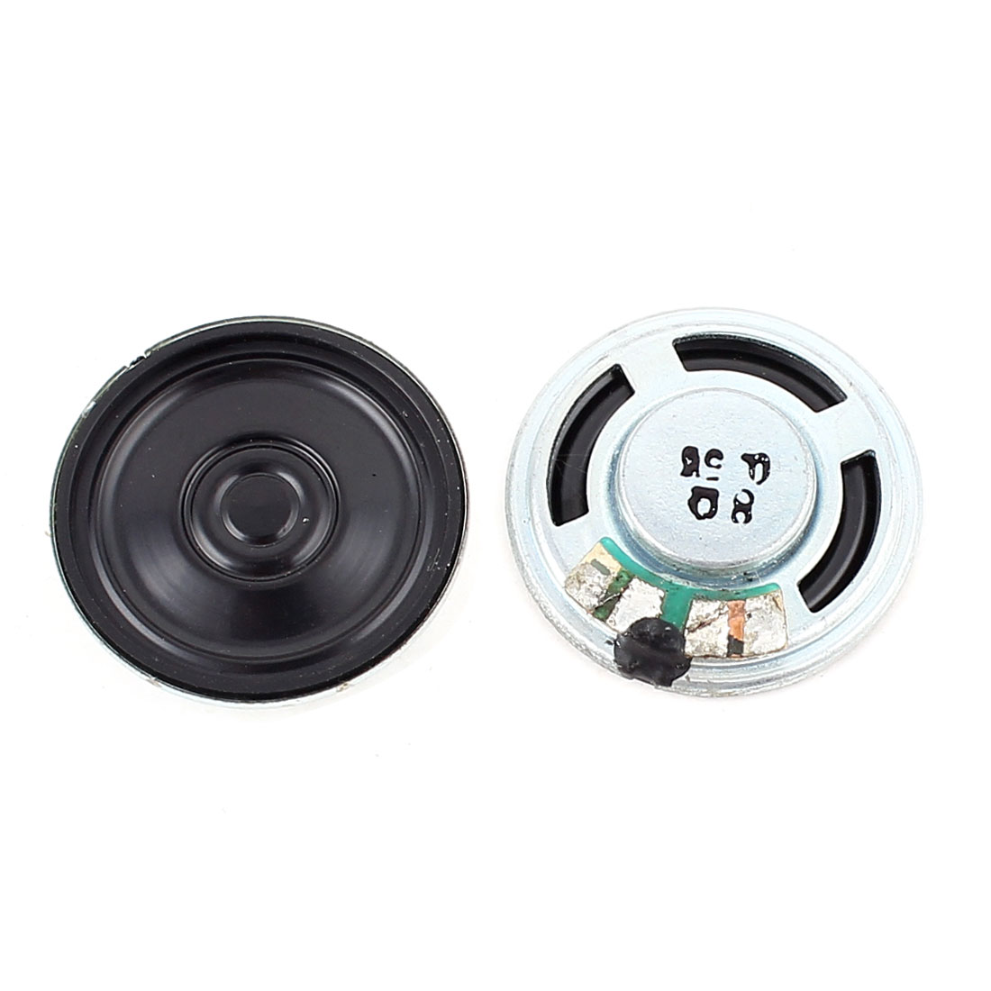 2 Pcs 0.5W 8 Ohm 23mm Round Inside Magnet Electronic Speaker Loudspeaker