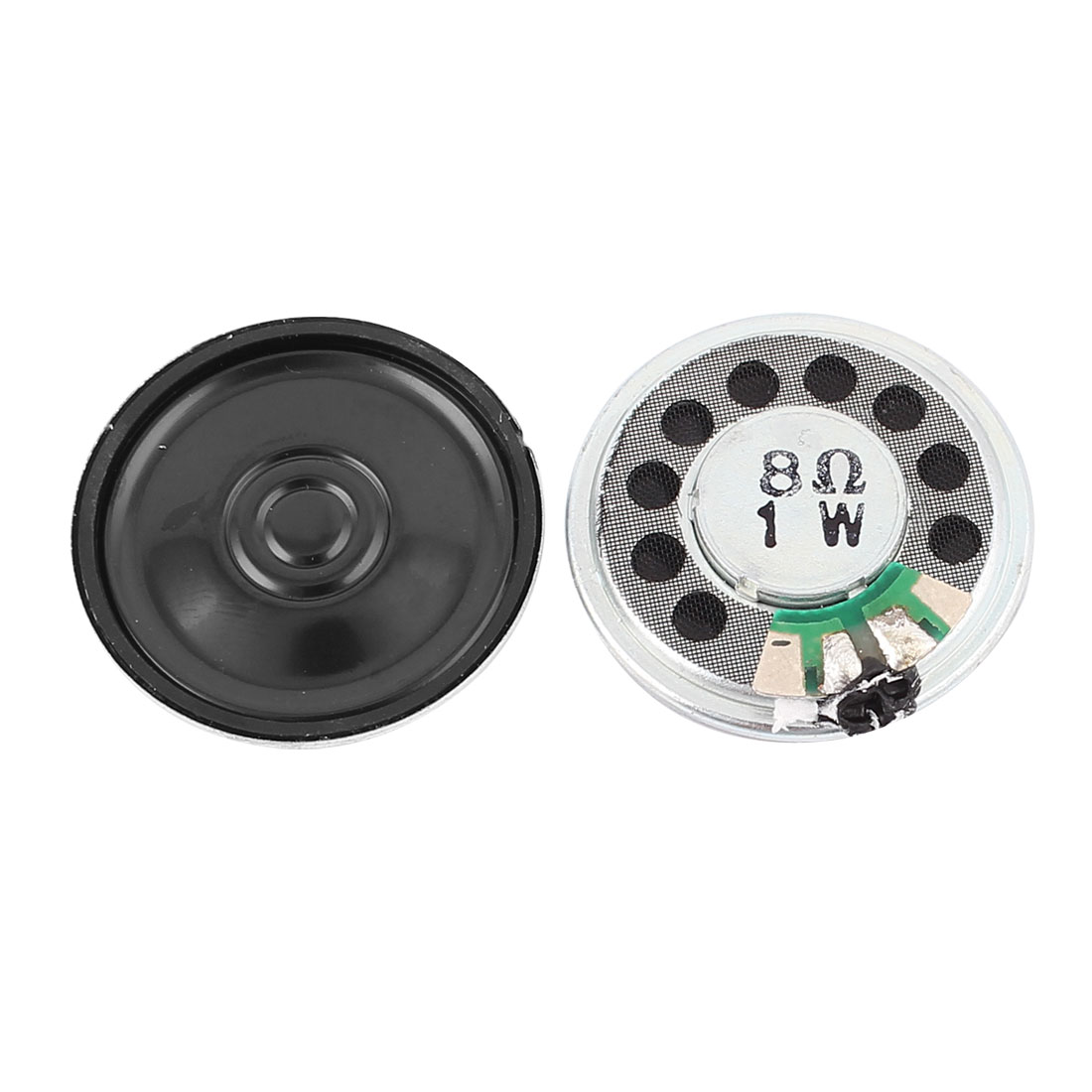 2 Pcs 1W 8 Ohm 30mm Round Inside Magnet Electronic Speaker Loudspeaker