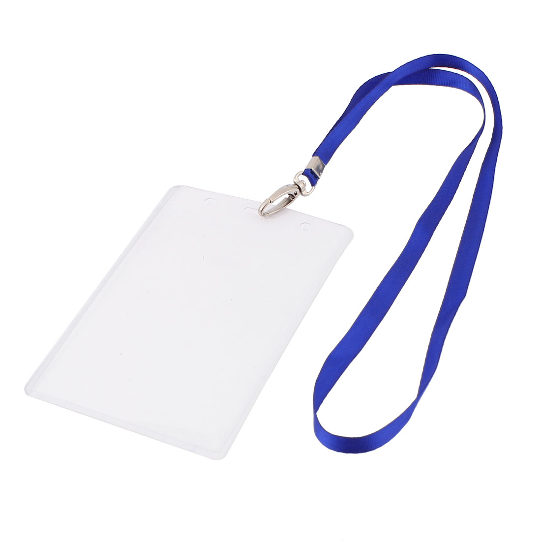 Plastic Vertical Photo Name Tag Company Position ID Work Badge Card Holder Blue