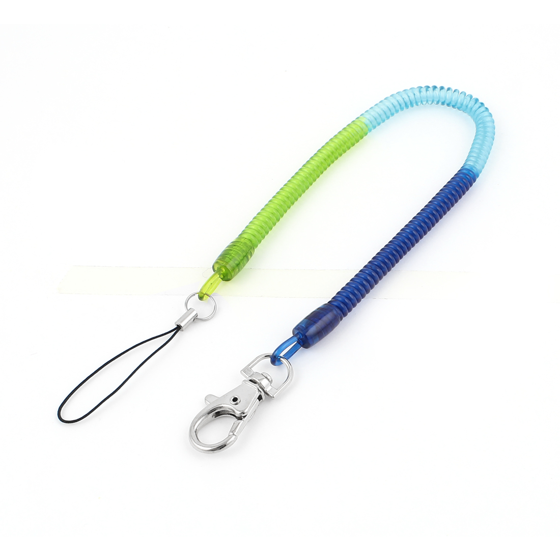 Flexible Lobster Clasp Stretch Coiled Cord Keychain Strap Key Holder 35cm Length
