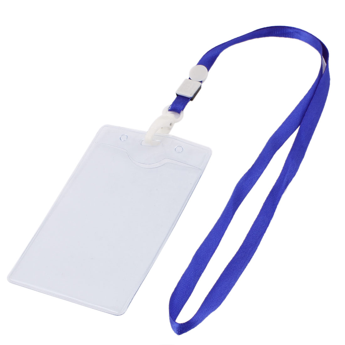 Plastic Horizontal ID Name Work School Exhibition Badge Card Holder Blue