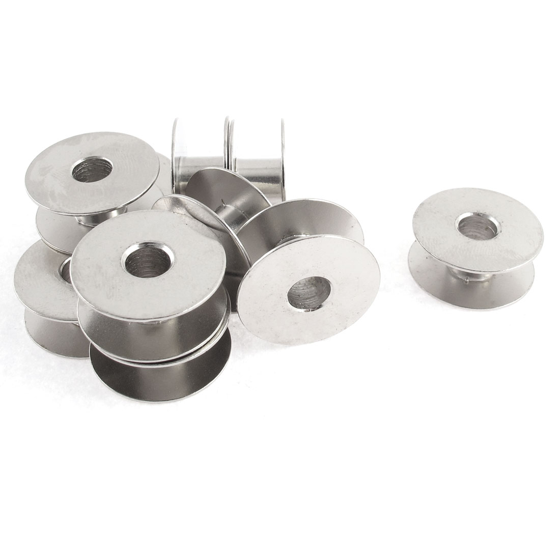 10Pcs Silver Tone Metal Rotary Single Sewing Machine Bobbin